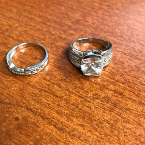 Jewelry - Size 6 customs diamond ring and band